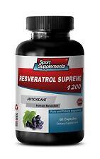 Trans Resveratrol - Resveratrol Supreme 1200mg -  Anti-Aging, Antioxidant 1B