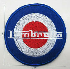 Lambretta Vespa Mod Target Logo Sew Iron on Patches Embroidered Badge patch cap