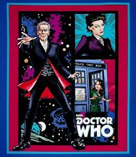 Doctor Who 100% Cotton Quilting Fabric Panel or Wall Hanging