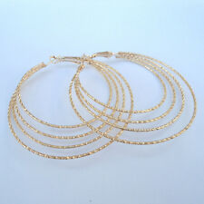 Stylish Multi Layer 14 k Goldfilled Earrings Hoops 50 mm (LIMITED)