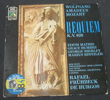Mozart : Requiem in D minor . Mathis , Bumbry , De Burgos . HMV EMI Electrola lp