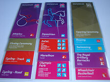 London 2012 Olympics COMPLETE SET OF 13 PARALYMPIC SPECTATOR GUIDES