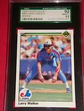 1990 UD #466 LARRY WALKER ROOKIE SGC 92 we combine shipping Montreal Expos