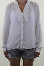 H&M white sheer silk feel blouse + camisole vest top size 16 fits UK 14