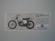 advertising Pubblicità 1973 MOTO MULLER ZUNDAPP 125 CROSS