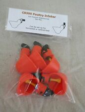 5 Chicken Water Drinker cups + Nuts + O-Rings + Washers, Poultry, Coop, Tractor