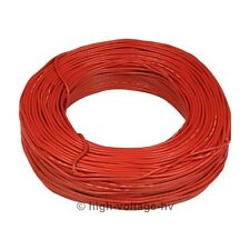 10ft. 20KV DC 17AWG Red High Voltage Wire Cable HV Stranded