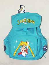 "NWT  *SAILOR MOON*  BLUE  CANVAS  BACKPACK  12"" X 9"" X 4 1/2"" WITH SIDE POCKETS"
