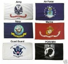 2X3 Military 5 Branches & Pow Mia Double Sided Set Flags 2'x3'