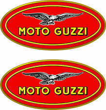 2 Moto Guzzie oval decal   FREE SHIPPING