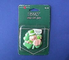 Buy3/Get1FREE~MOC Irish Pin ZIGGY SHAMROCK Vtg POCKET CLIP ON St Patrick Holiday