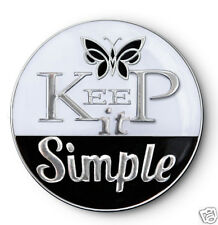 """""""Keep It Simple"""" AA/NA/12 Step Recovery Program  Blk & Wht Enamel Medallion/Coin"""