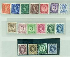 QUEEN ELIZABETH II UNITED KINGDOM 1952/1954 Common Stamps X
