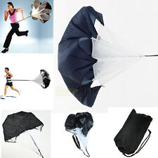 "56"" Speed Resistance Training Parachute Running Chute Football Training Black"