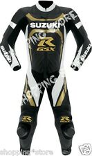 SUZUKI GSXR MOTORBIKE LEATHER RACING SUIT MOTORCYCLE MEN LEATHER SUIT ONE-PIECE