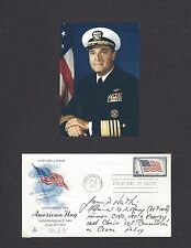 Admiral James Watkins Navy USN CNO & US Secretary Of Energy Autograph FDC Signed