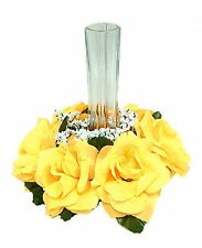 Candle Ring Rings ~ Sunbeam YELLOW~ Silk Wedding Flowers ~ Centerpieces ~ Unity