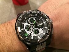 RENATO MOSTRO BLACK/SILV 7750 VALJOUX SWISS AUTOMATIC CHRONOGRAPH WATCH L.E. 50