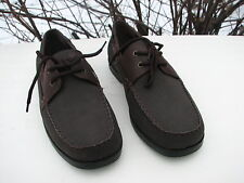 *STEVE & BARRY'S MENS BROWN CASUAL SHOES SIZE 11 D