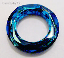 1x SWAROVSKI 4139 BERMUDA BLUE COSMIC RING FRAME 14mm CRYSTAL