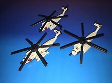 Micro Machines Military Lot Sikorsky HH-53 Super Stallion X3 Helicopter RARE!!!
