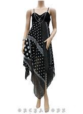 Robe Tunique Voile pois collier Soirée FR T UNIQUE = 38 40 42 44 46 NEUF Dress