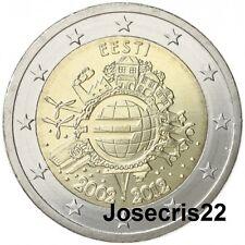 2€ CONMEMORATIVA ESTONIA 2012: TYE. CIRCULACIÓN MONEDAS Y BILLETES. SIN CIRCULAR