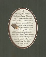 PRINCIPAL'S PRAYER School CHILDREN CHRISTIAN Guidance HUMBLE verses poem plaques