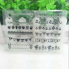Flower Silicone Clear Stamp Seal DIY Diary Scrapbooking Album Note Craft #15
