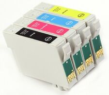 4 INKS FOR EPSON STYLUS SX125 16ml BLACK + 14ml COLOUR Compatible Ink Cartridges