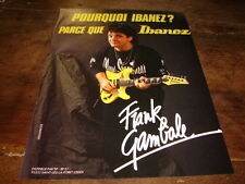 FRANK GAMBALE - PUBLICITE IBANEZ !!!!!!!!!!!!!!