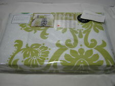 NEW STYLE HAPPY GIACOMO Lime Full/Queen DUVET COVER & Shams Set Lime/Black White