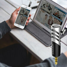 NEW Mini Condenser Microphone Digital Stereo 3.5mm for Mobile Phone PC Recorder