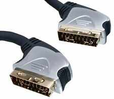 HIGHEST QUALITY 5M OXYGEN FREE COPPER SCART MALE TO MALE CABLE GOLD PLATED PLUGS