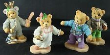 Cherished Teddies, NUTCRACKER SUITE, Collector Set Christmas Figurines 1997