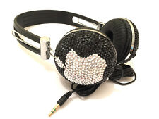 blingustyle DJ Ear-Cup crystal diamante apple design Bling bling headphone B-S
