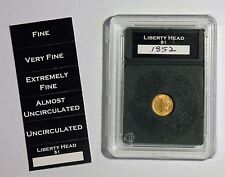 Premier Slab Coin Holder Small Type 1 Gold Dollar with Labels