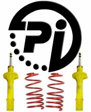 FIAT UNO 83-93 1.4T Turbo 60mm PI LOWERING SPRINGS SUSPENSION KIT SHOCKS