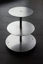 ALLUMINIO Supporto A TORTA MATRIMONIO 3 piani in alluminio Ø 20 26 32 * Qualità professionale *