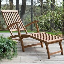 Outdoor Chaise Lounge Chairs Lounger Poolside Patio Furniture Wood Adjustable