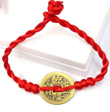 FD4600 Feng Shui Red String Lucky Coin Charm Bracelet for Good Luck & Wealth