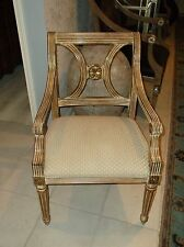 Thomasville white washed Regency style  arm chair (6 available)
