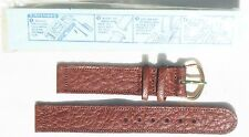 MINT 1944  US ARMY TEXTURED BROWN SWEATPROOF LEATHER WRISTWATCH BAND