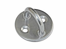 "3/16"" STAINLESS STEEL MARINE RIGGING ROUND PAD EYE PLATE FOR BOAT - FIVE OCEANS"