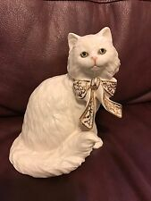 Lenox Sitting Pretty Cat Figurine Long Hair Kitty  Handcrafted In Mexico