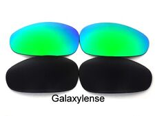 Galaxy Replacement Lenses For Oakley Juliet Sunglasses Black&Green Polarized 2PS
