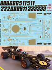 1/12 F1 LOTUS 72D 1972 1973 TAMIYA FULL JPS DECALS TB DECAL TBD109