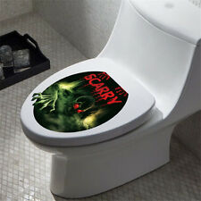 Scary Skeleton Toilet Seat Cover Sticker Removable Wallpaper Bathroom Art DIY