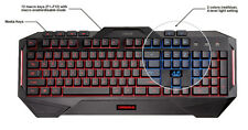 Asus Cerberus LED Backlit USB Gaming Keyboard, Anti-Ghost, SPLASH PROOF - NEW