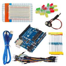Keyes DIY Tool Starter Kit for Arduino UNO R3 Breadboard LEDs Resistors USB